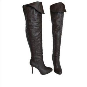 REPORT Black Kenley Thigh High Boots